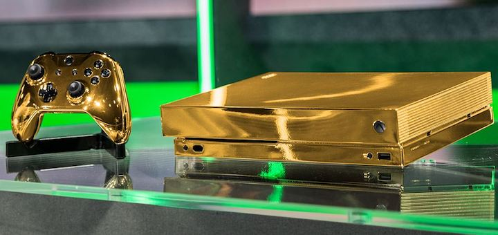 24-Karat Gold Xbox One X Project Scorpio Edition