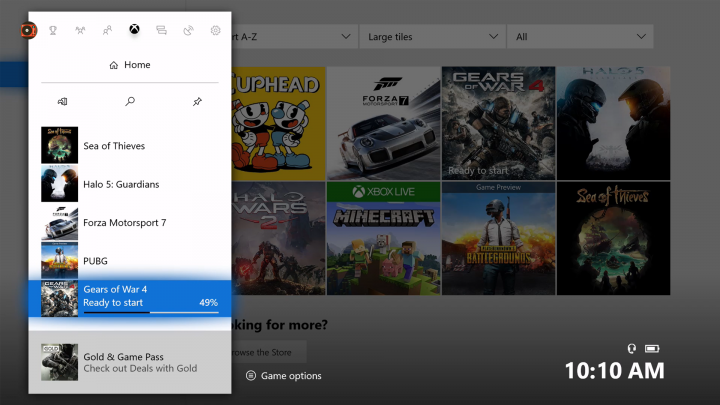 Xbox One Check Download Status