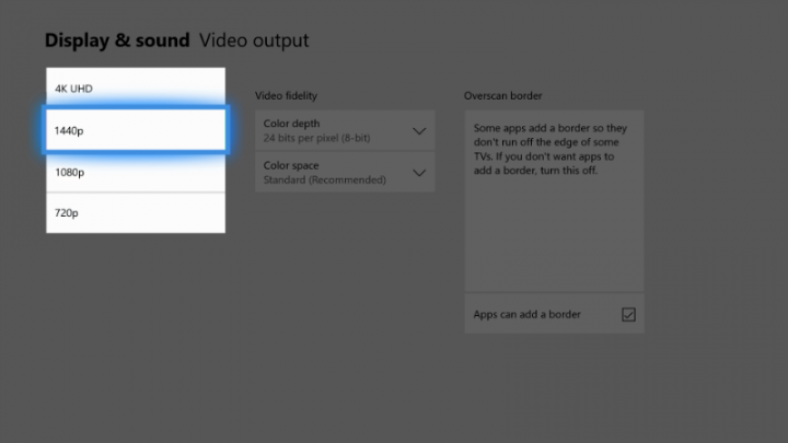 Xbox Spring Update 1440p