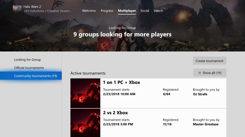Xbox Spring Update Tournaments