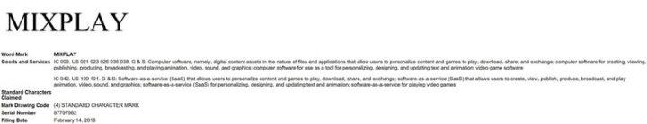 MixPlay Trademark
