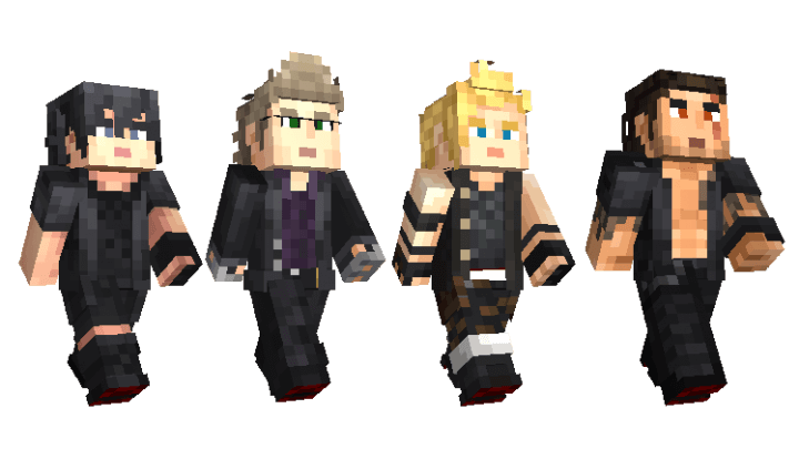 Final Fantasy XV Minecraft Skin Pack