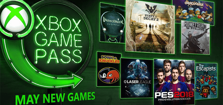 Xbox Game Pass May New Games