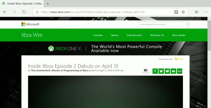 Xbox One Edge 2018