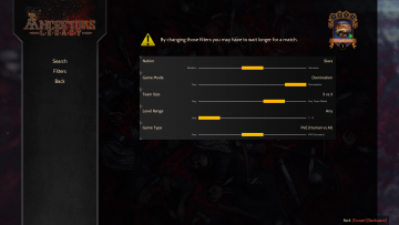 Ancestors Legacy MP Settings