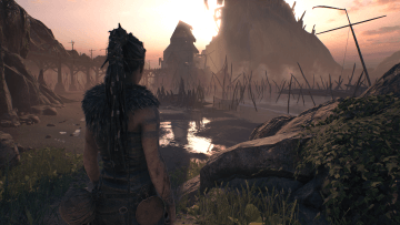 Hellblade Comparison Enhanced Visuals Mode