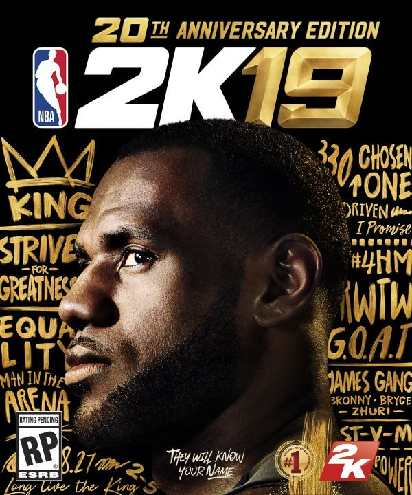 NBA 2K19 20th Anniversary Cover