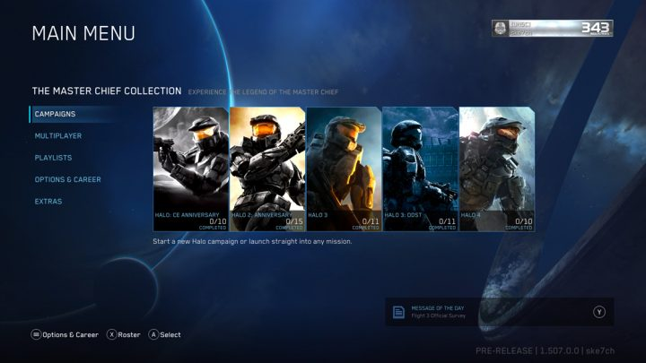 Halo The Master Chief Collection Main Menu