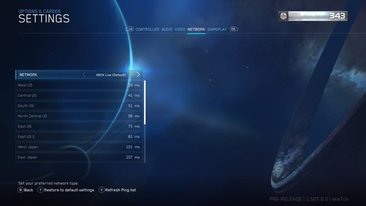 Halo The Master Chief Collection Network Ping