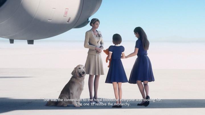 Japonský vizuálny štýl cutscén do hry veľmi pasuje. Model psa ale asi niekto zjedol..