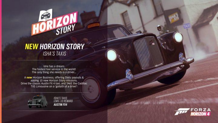 Forza Horizon 4 Isha's Taxi Story