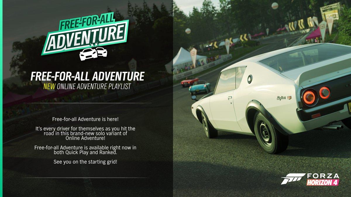 Forza Horizon 4 Free-For-All Adventure