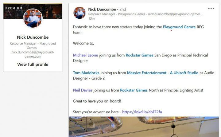 Nick Duncombe HR Playground Games