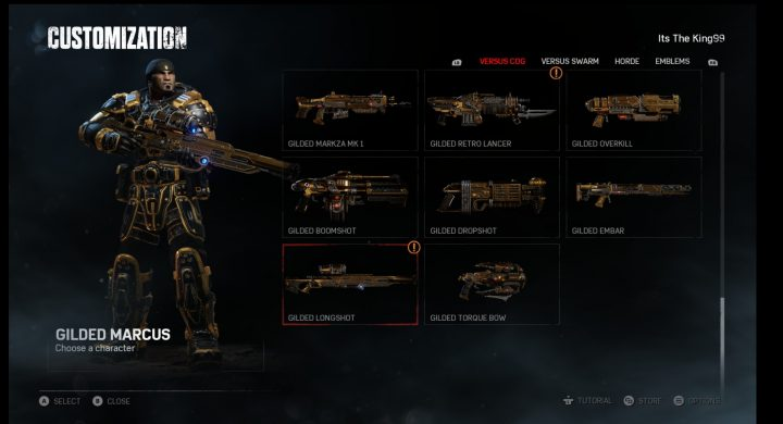 Gears 4 Gilded Weapons Skin Set
