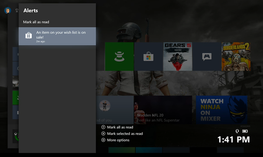 Xbox One Wish List Notifications