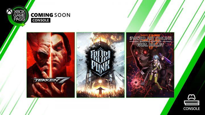 Xbox Game Pass Console Január 2020 Tekken 7, Frostpunk a Sword Art Online: Fatal Bullet