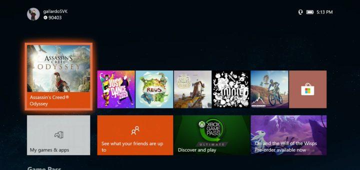 Xbox One 2020 Dashboard Update
