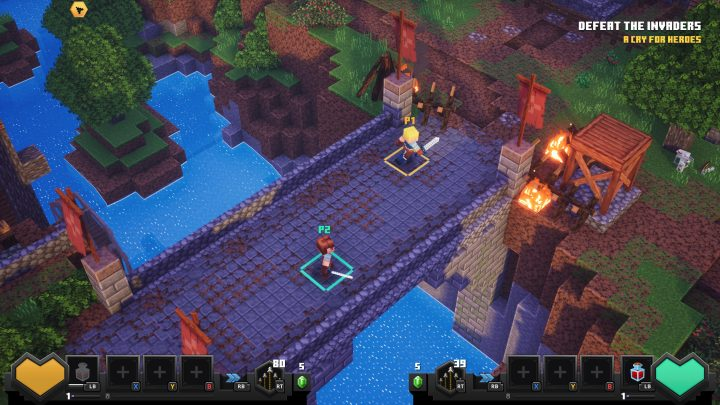 Minecraft Dungeons prvy level