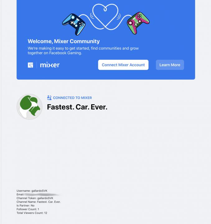 Mixer Facebook Gaming