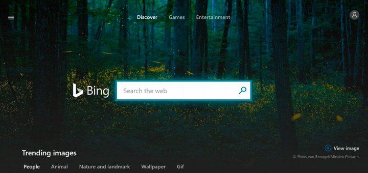 Microsoft Bing Xbox App