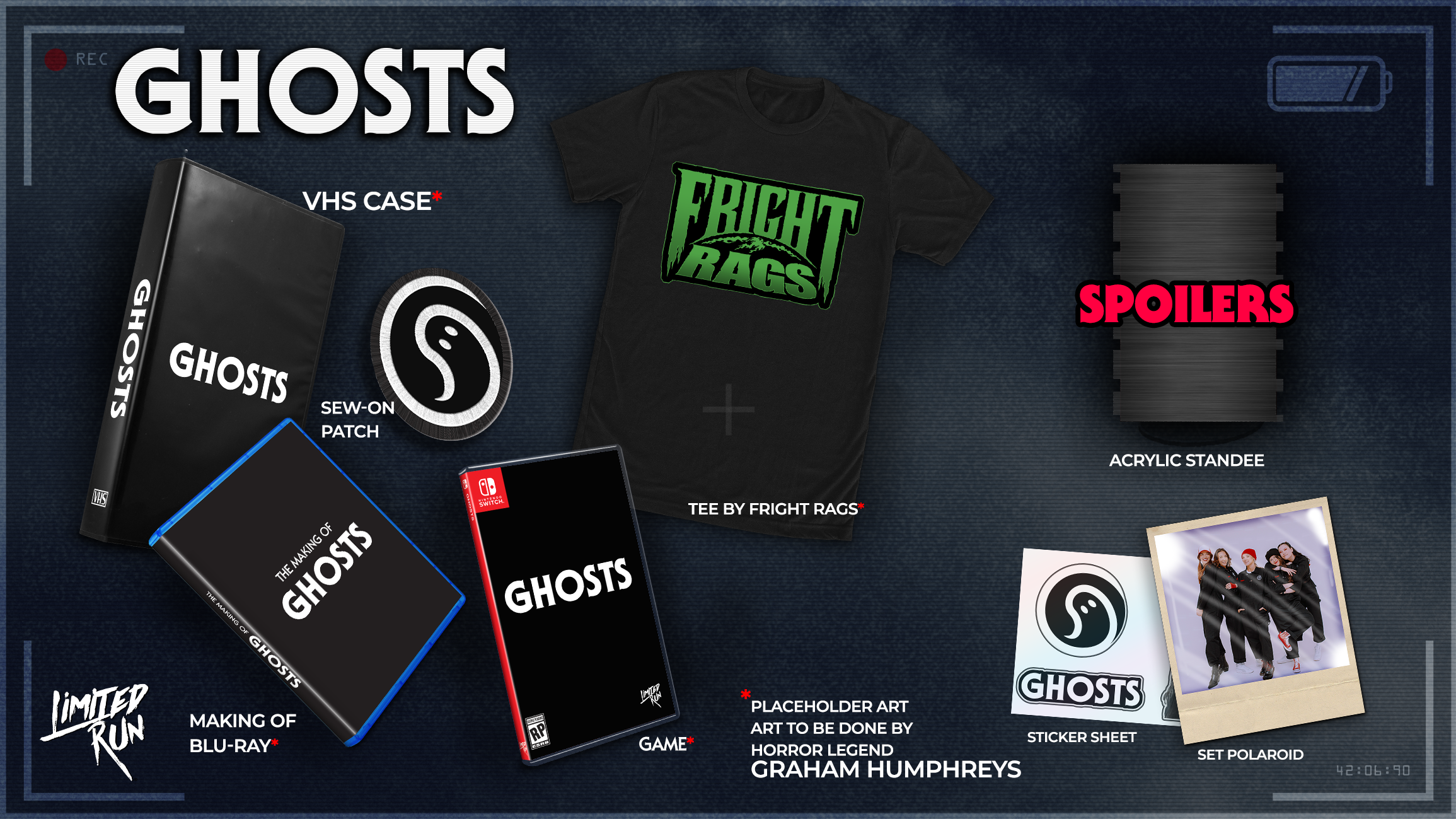 GHOSTS Collector's Edition by Limited Run Games for Nintendo Switch