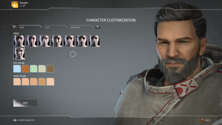 Outriders Character Customization