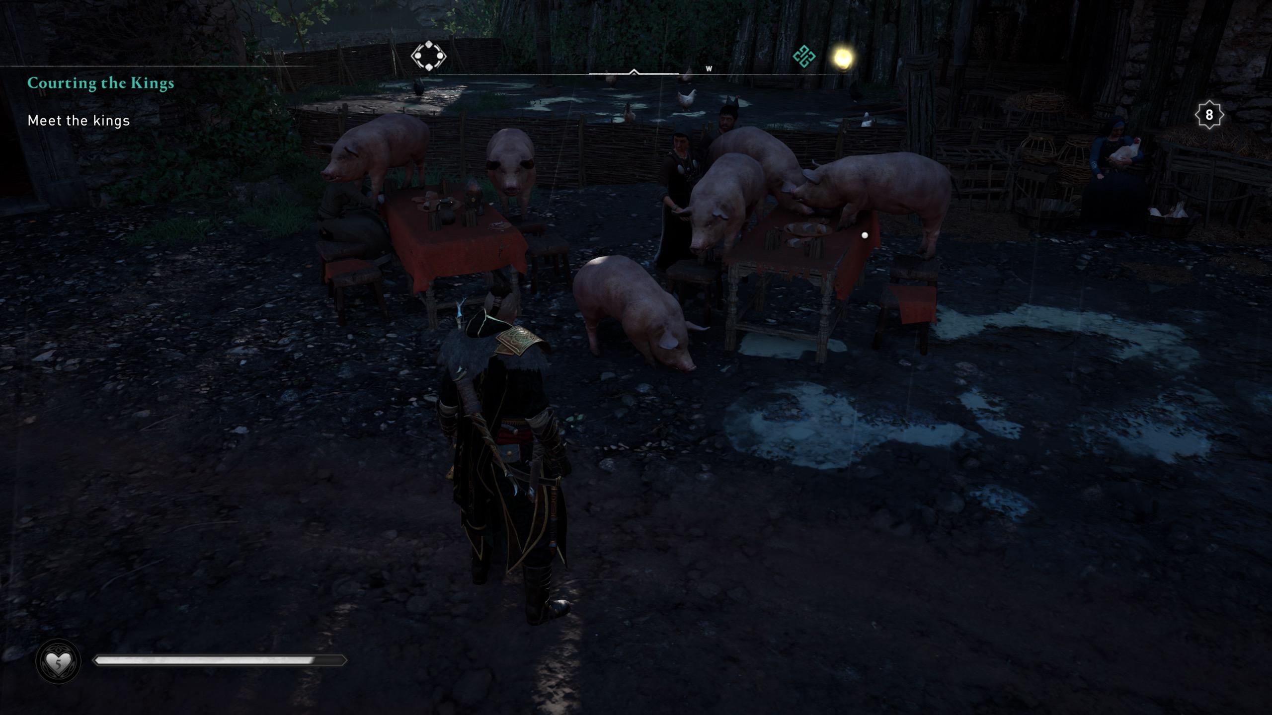 Assassin's Creed Valhalla Pig Instead of NPC Bug